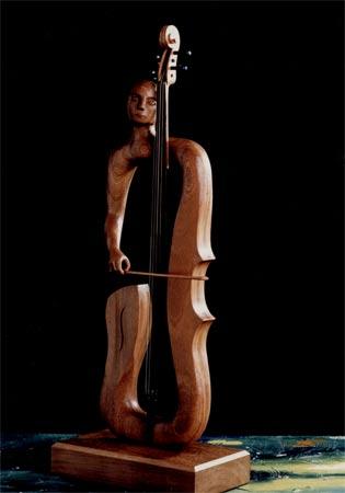 Simbiosis serie esculturas en madera 1988 1998 emilio - Esculturas de madera abstractas ...